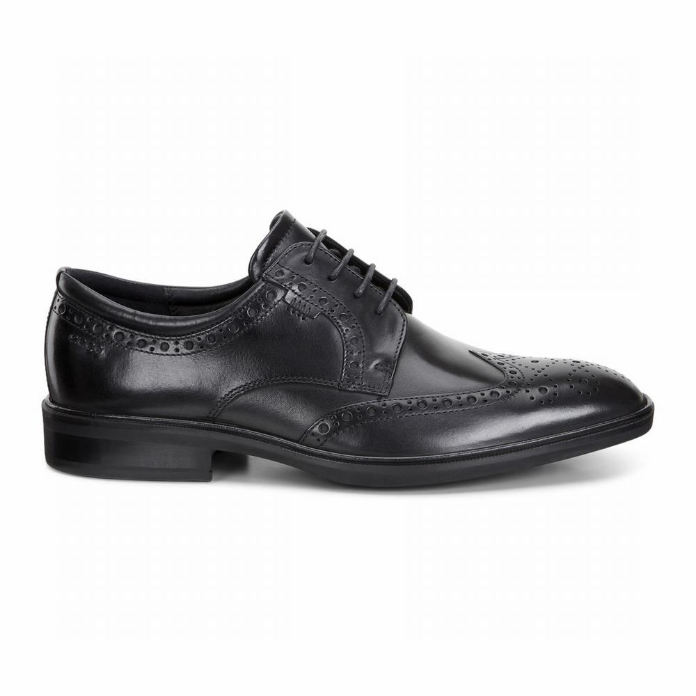 ECCO Mens Illinois Wing Tip Tie Dress Shoes | 75983-668