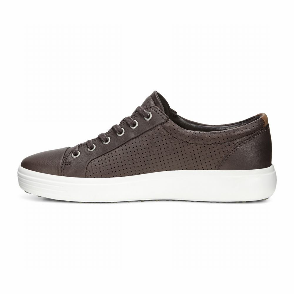 ECCO Men's Soft 7 Perf Tie Sneakers | 86993-798