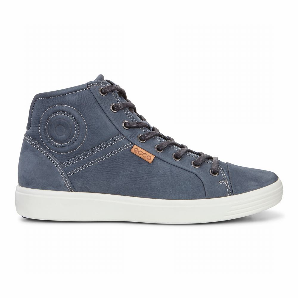 ECCO Mens Soft 7 High Top Sneakers | 43859-719