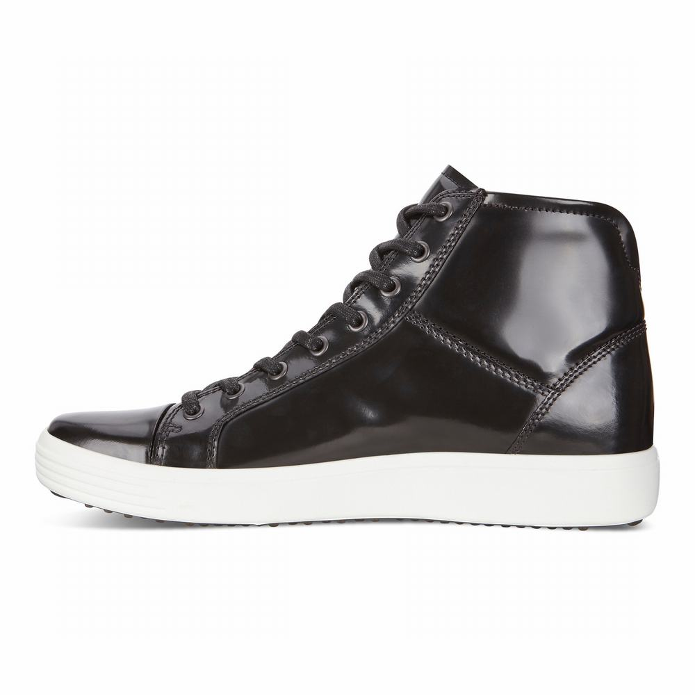ECCO Men's Soft 7 Luxe High Top Sneakers | 28332-645